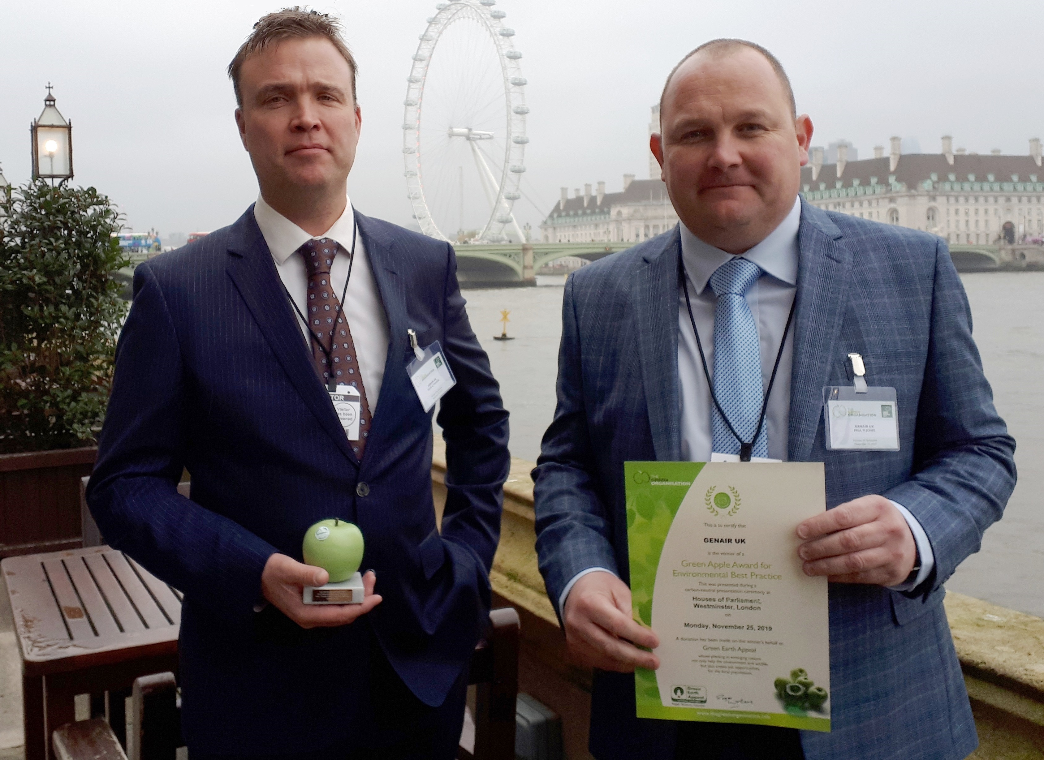 GenAir win a Green Apple Award for their All Weather All Electric Air Compressor